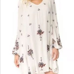 Free people oxford floral dress size L